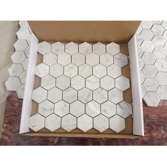 kaufen carrara wei sechseck marmor mosaik fliesen carrara wei sechseck marmor mosaik fliesen. Black Bedroom Furniture Sets. Home Design Ideas