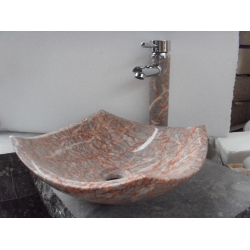 rose red round bathroom sink