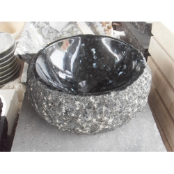 Customized granite bathroom sink and basin