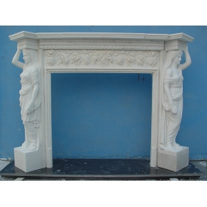 White Marble Fireplace Mantel