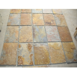 Natural rusty roofing tile for outdoor