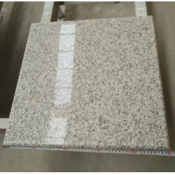White polished G655 granite tiles