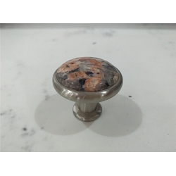 Red Brown Stone Knob for drawer & cabinet