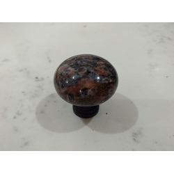 Dakota Mahogany Stone handle for drawer & cabinet