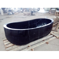 Natural Black stone bathtub for bathroom